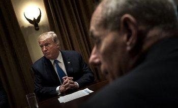Donald Trump y el nuevo jefe de gabinete, John Kelly