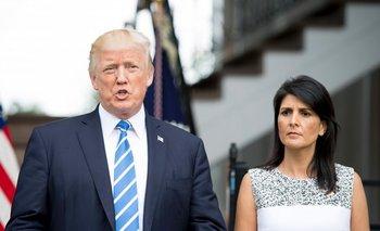 Trump y su embajadora ante Naciones Unidas, Nikki Haley