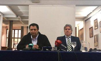 <b>Wilson Ezquerra junto a su abogado Enrique Moller</b>
