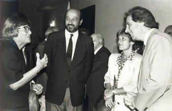"""<div dir=""""ltr"""">Susana Sienra, viuda de Wilson Ferreira Aldunate; Wilfredo Penco; Silvia Ferreira y Tabaré Vázquez en 1993</div><div><br></div>"""