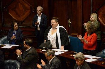 Michelle Suárez, la primera senadora trans de la historia uruguaya