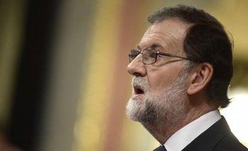 Mariano Rajoy, esta mañana en el Parlamento Español.