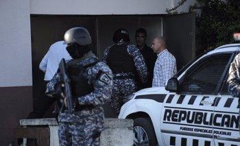 La Policía de Canelones dispuso un fuerte operativo en los alrededores al juzgado de Toledo en el que declara el Pato Feo