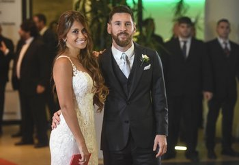 Roccuzzo y Messi