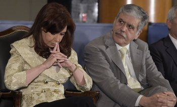 Julio De Vido junto a la expresidenta Cristina Kirchner<br>