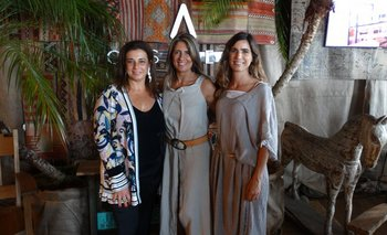 Carina Martínez, Renata Battione y Ximena Arcos Pérez
