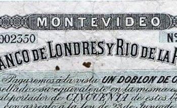 Billete emitido por el Banco de Londres en 1865