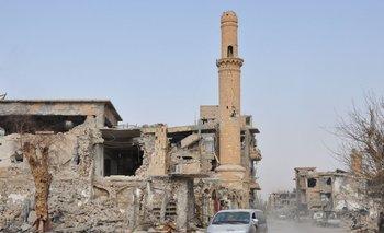 Una mezquta derruida en Deir Ezzor
