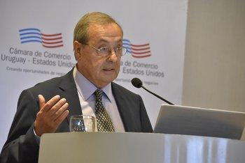 Gianelli durante sus funciones como embajador uruguayo, en 2017