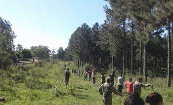 Personal del Ejército Nacional en plena operación de búsqueda.