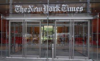 Una de las entradas al edificio del New York Times