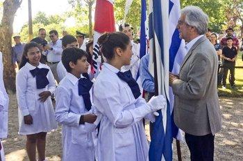 Archivo. El presidente suele conversar con escolares durante los Consejos de Ministros abiertos