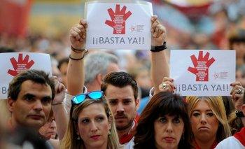 Las protestas en San Fermín contra los abusos a mujeres, 2015.