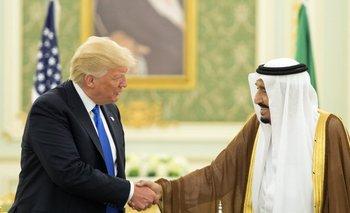 Trump y el rey Salman bin Abdulaziz al-Saud.