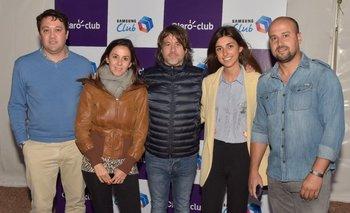 Christian Olmedo, Martina Risso, Danilo Astori, Verónica Comas y Nicolás Vargas