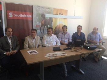 Integrantes de Scotiabank, de la Sociedad de Criadores de Árabes y del escritorio Zambrano & Cía<br>