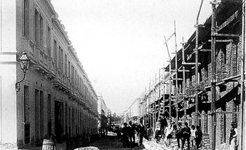 El barrio Reus al Norte en etapa final de construcción, circa 1890.