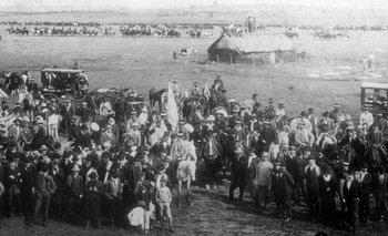 """Milicias del Partido Nacional en la """"Protesta armada"""" de Nico Pérez, en marzo de 1903, un preámbulo de la guerra civil de 1904."""