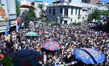 Fiesta de Navidad organizada por Tibet, en Montevideo.