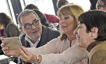 Los exconsejeros de Enseñanza Secundaria Javier Landoni, Celsa Puente e Isabel Jauregui