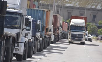 Camiones. Foto de archivo.