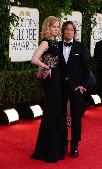 Nicole Kidman y su esposo Keith Urban; ella se quedó con el premio a Mejor Actriz de miniserie por Big Little Lies<br>