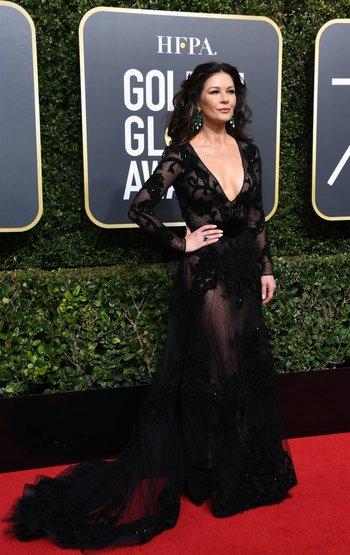 Katherine Zeta Jones vestida por Zuhair Murad<br>