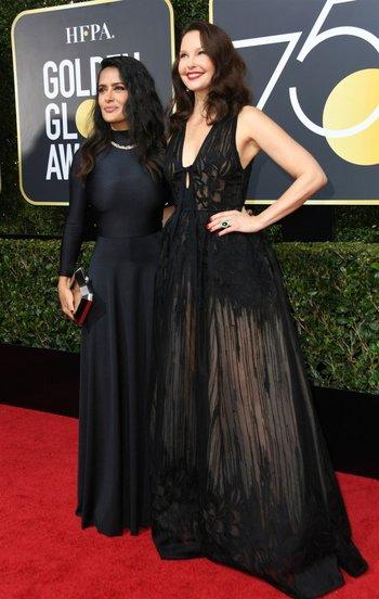 Salma Hayek y Ashley Judd<br>