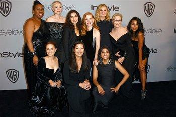 Las damas de negro, activistas de la organización Time´s Up<br>