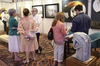 El stand de la Galería Los Caracoles fue de los más visitados en Expo Luxury