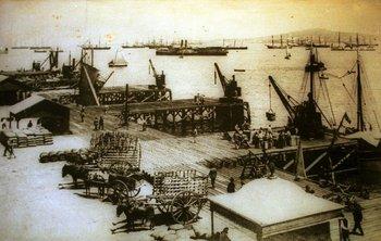 <div>El puerto de Montevideo a fines del siglo XIX</div><div><br></div>