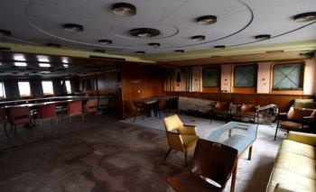 Una de las habitaciones del yate Galeb que será transformado en un museo en la ciudad de Rijeka en Croacia
