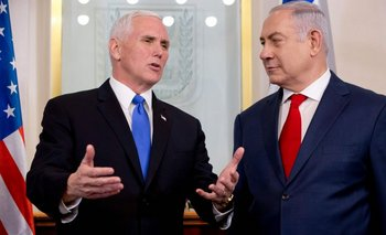<div>Pence y Natanyahu se reunieron en Israel / AFP / POOL / Ariel Schalit</div>