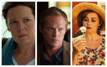 Los tres nuevos actores: Olivia Colman (Isabel), Paul Bettany (Felipe) y Helena Bonham Carter (Margarita)
