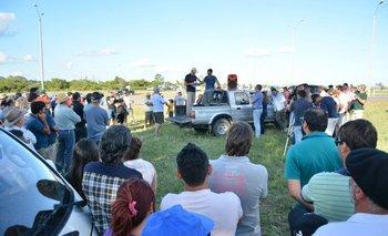 La movilización de productores en Paysandú el lunes 8