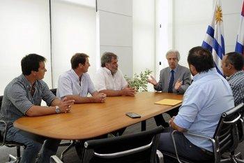 Archivo. Vázquez recibió a los autoconvocados en enero