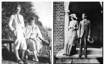 F. Scott Fitzgerald y su mujer Zelda; Virginia Woolf y su marido Leonard<br>
