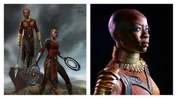 Las armaduras que usan las mujeres de la guardia real son los trajes que ponen más orgullosa a Carter de todos los que creó para la película