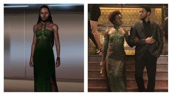 Durante una secuencia, un grupo de personajes se infiltra en un casino ilegal en Corea del Sur. Al estilo James Bond, Nakia, la espía interpretada por Lupita Nyong