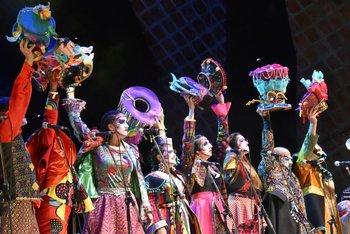 Integrantes de Falta y Resto en el Teatro de Verano.<br>