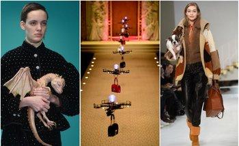 Gucci y sus criaturas del futuro; Dolce & Gabbana y los drones; Tod