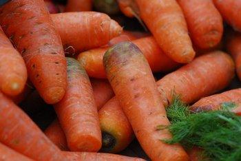 Zanahorias prontas para la comercialización.