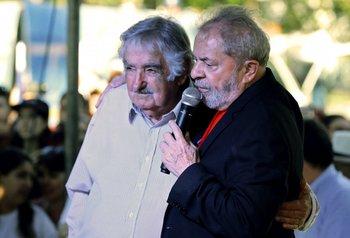 Mujica y Lula en Santana Do Livramento