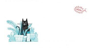 Uno de las ilustraciones de<i> Un día de gatos</i>, de Fran Cunha<br>