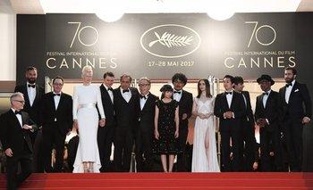El equipo de la película <i>Okja</i>, de Netflix, en el festival de Cannes de 2017