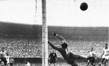 <div>El empate de Juan Alberto Schiaffino en la final de Maracaná, el 16 de julio de 1950.</div><div><br></div>