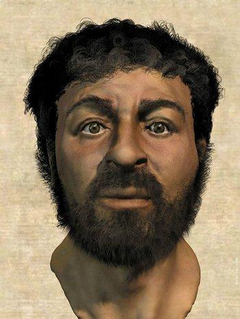 La reconstrucción del rostro de Jesús que Richard Neave hizo en 2001.