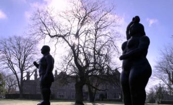 Las esculturas se encuentran actualmente en un parque en el suroeste de Inglaterra<br>