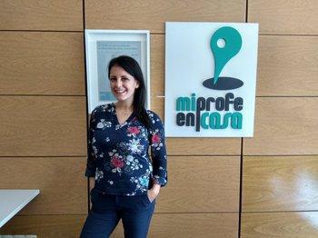 Claudia Martínez, fundadora de Mi profe en casa