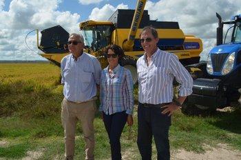 Enzo Benech, Graciela Pereira y Alfredo Lago.